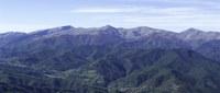 Veduta aerea dei Monti della Laga