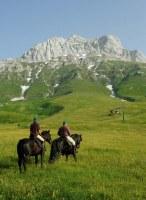 A cavallo sul Gran Sasso