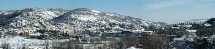 Panorama invernale di Montorio al Vomano